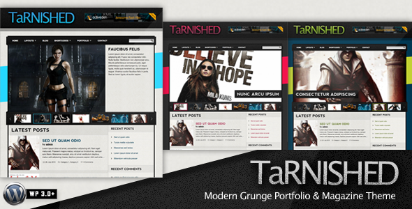 Tarnished wordpress theme download