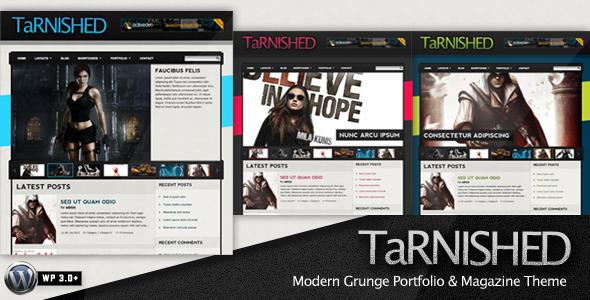 Tarnished wordpress theme download
