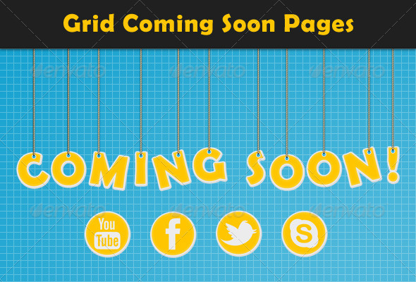 Grid Coming Soon Pages - Miscellaneous Web Elements