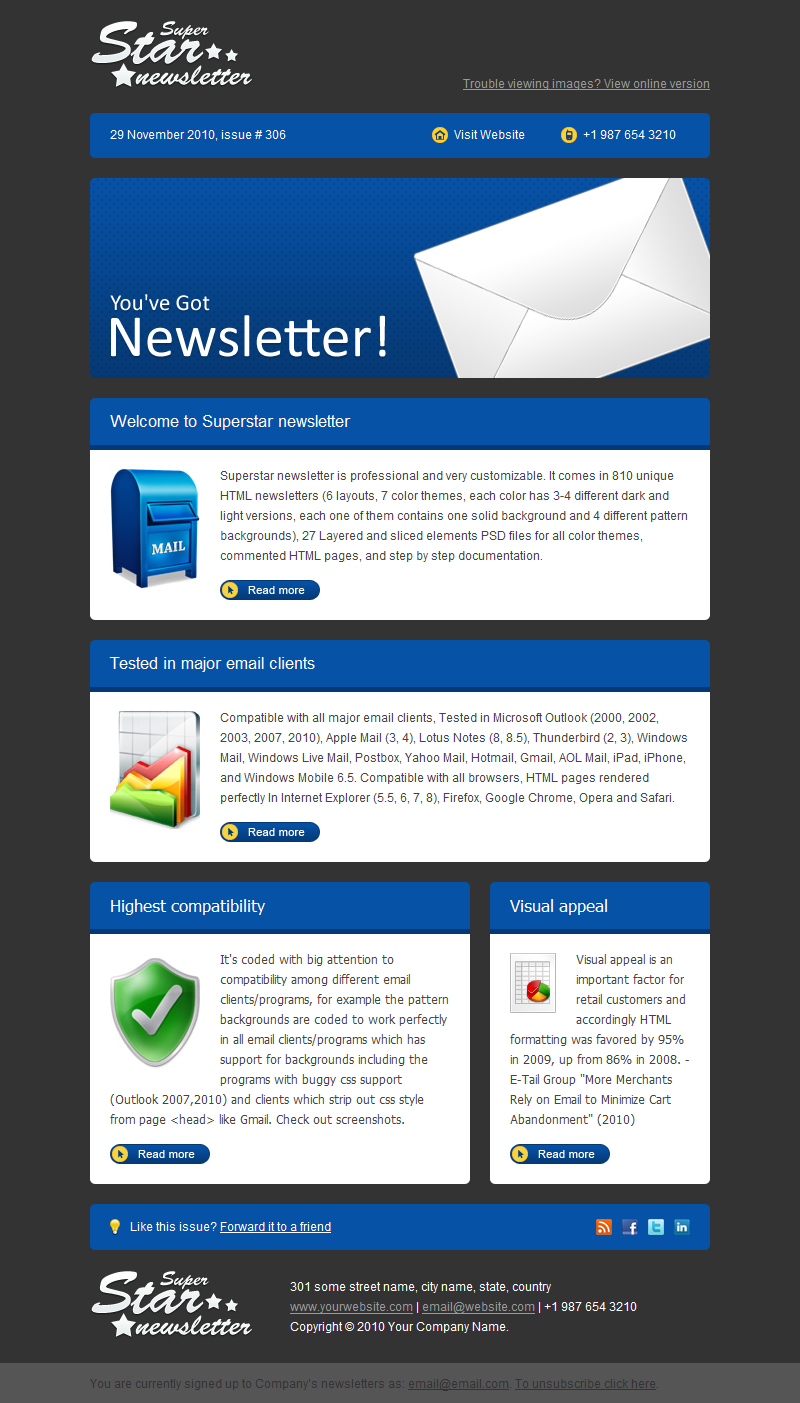 Superstar Newsletter