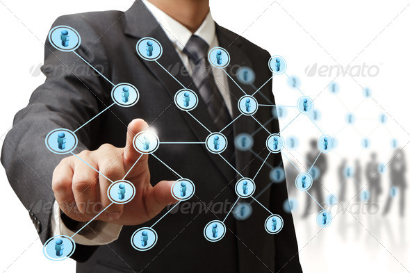 social network structure - Stock Photo - Images