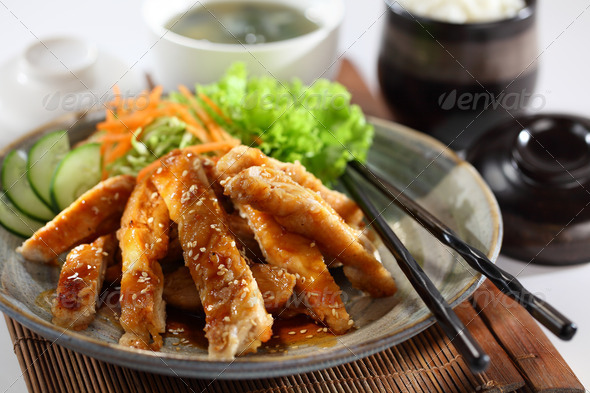 Chicken teriyaki - Stock Photo - Images