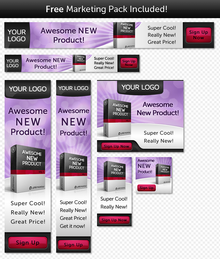 Unveiled - Ultimate Product Focused Landing Page - 7 Bonus banners for the Pink Mist Theme