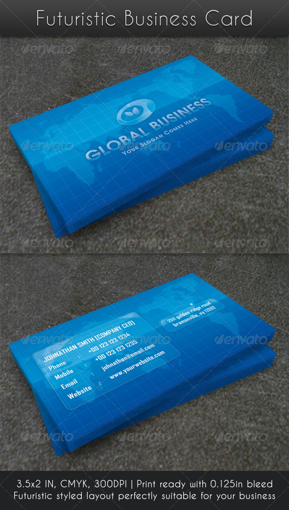 Futuristic Business Card - Corporate Business Cards