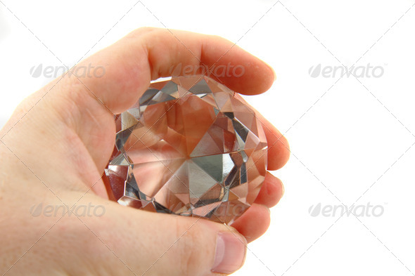 diamond in the hand - Stock Photo - Images
