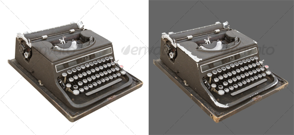 Typewriter retro - Home &amp; Office Isolated Objects