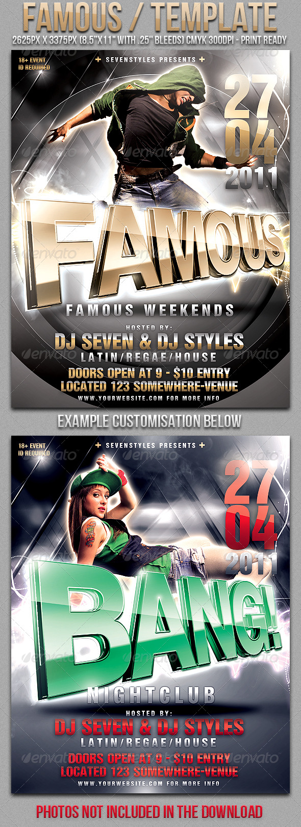 Famous Poster/Flyer Template - Clubs & Parties Events