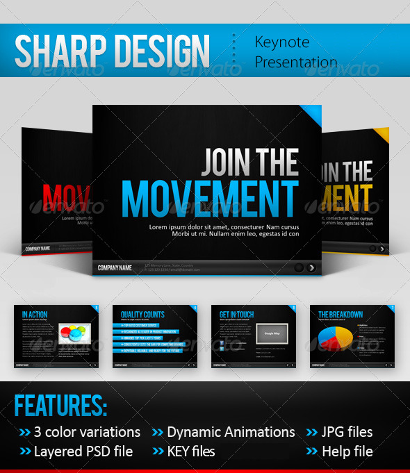 Sharp Design Keynote Template - Keynote Templates Presentation Templates
