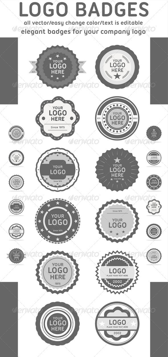 Logo Badges - Badges & Stickers Web Elements