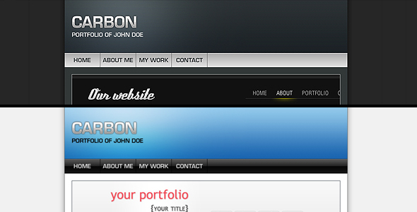 ThemeForest Carbon One Page Portfolio 53710