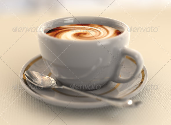 3DOcean Cup of Coffee 3D Models -  Food and drinks 163454