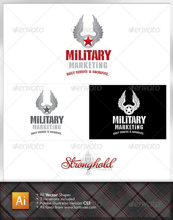 Military Crest 3 Logo - Crests Logo Templates