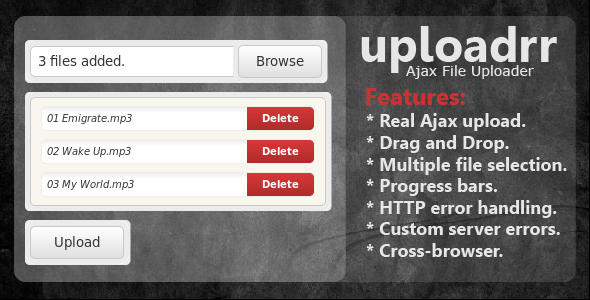Uploadrr - HTML5 File Uploader - CodeCanyon Item for Sale