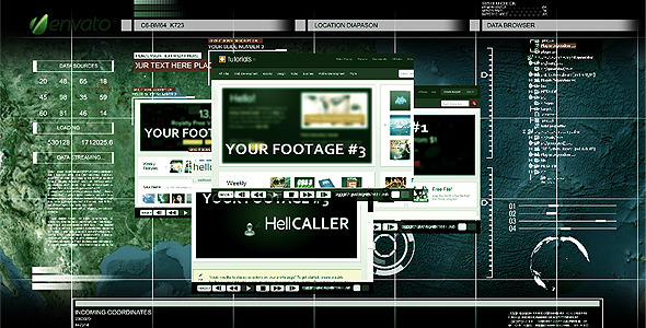 After Effects Project - VideoHive Military Briefing Slide Interface 1050869