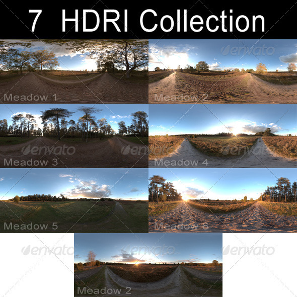HDRi Pack - Meadow - 3DOcean Item for Sale