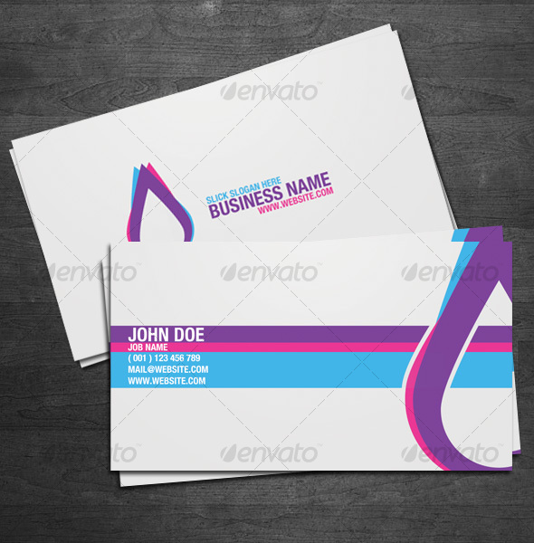 GraphicRiver Triad Business Cards 54375
