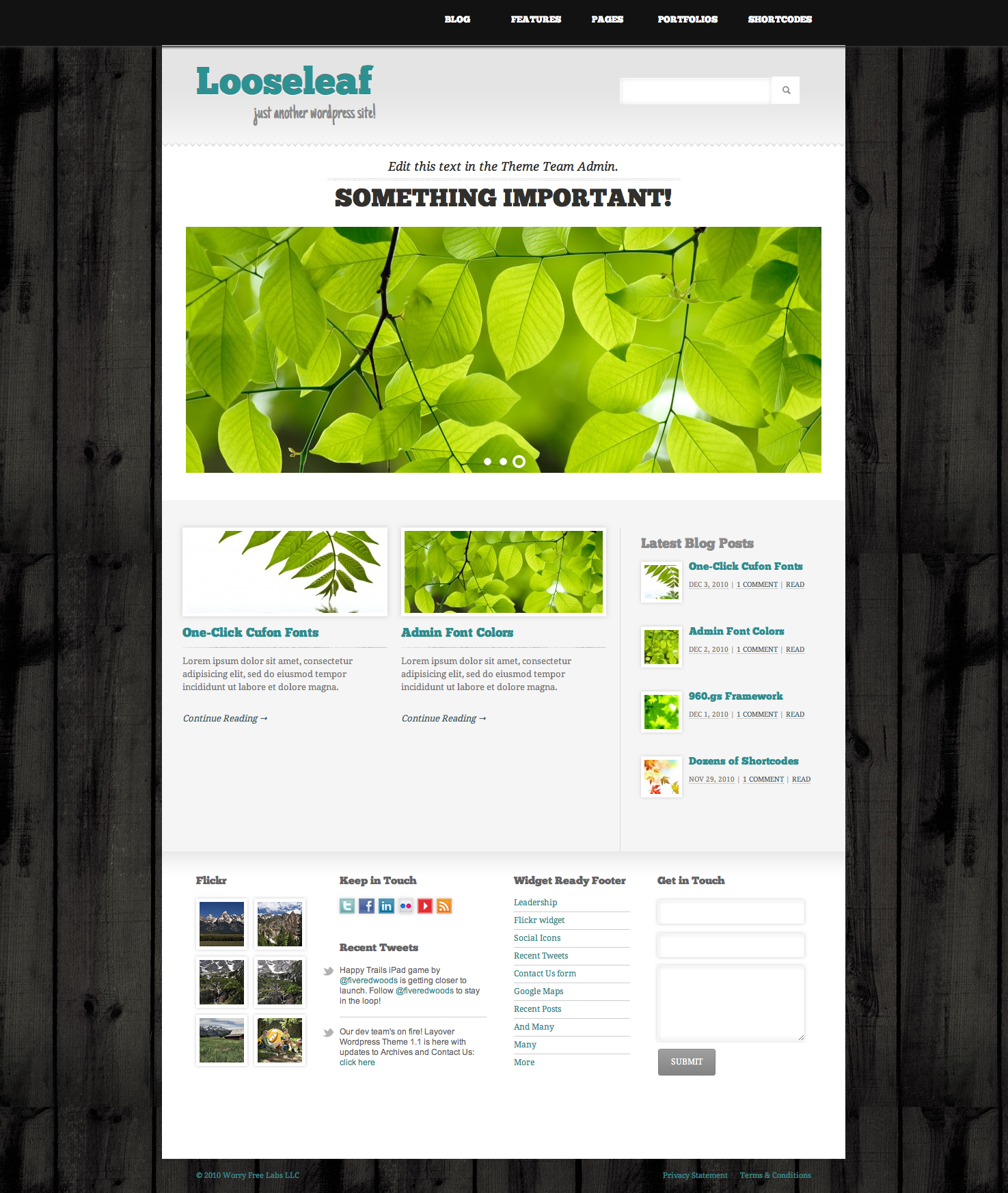 Looseleaf Wordpress Theme