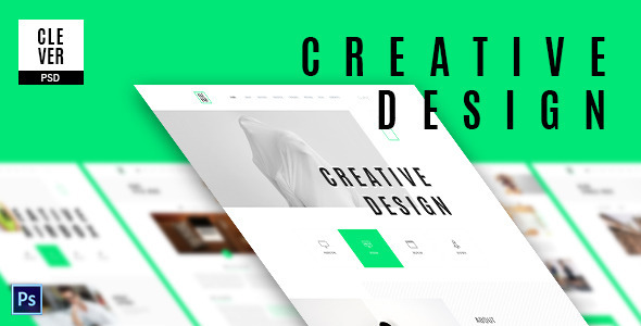 Clever - Creative & Design Portfolio Template by ThemezShaper ...