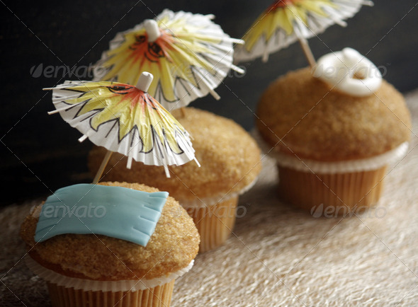Summer cupcakes - Stock Photo - Images