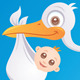 Baby Delivery Stork - GraphicRiver Item for Sale