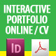 Interactive CV / Portfolio PDF InDesign Template - GraphicRiver Item for Sale