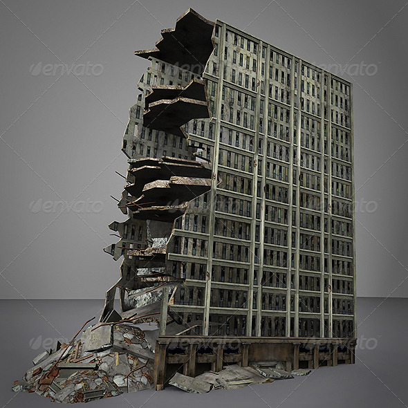 3DOcean 3D Destroyed building 164425