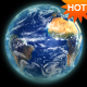 Realistic 3d Earth loop with transparency - VideoHive Item for Sale