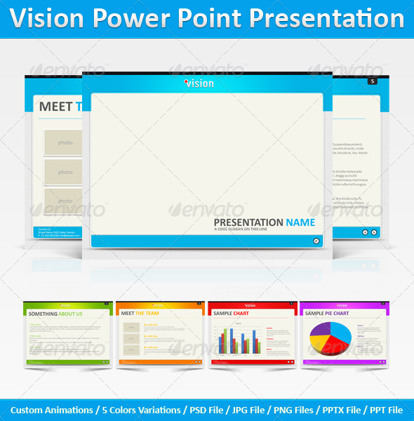 Vision Power Point Presentation - Powerpoint Templates Presentation Templates