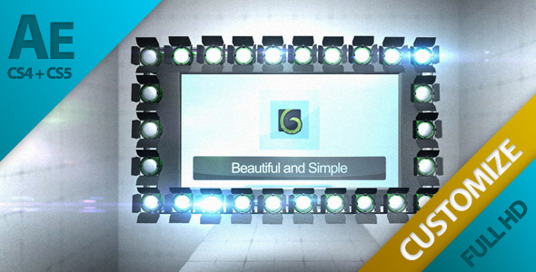 After Effects Project - VideoHive Video Display With Lights In Room 1378292