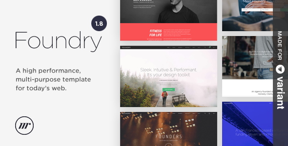 Foundry - Multipurpose Bootstrap Theme