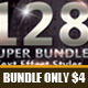 128 Super Bundle Text Style-Graphicriver中文最全的素材分享平台