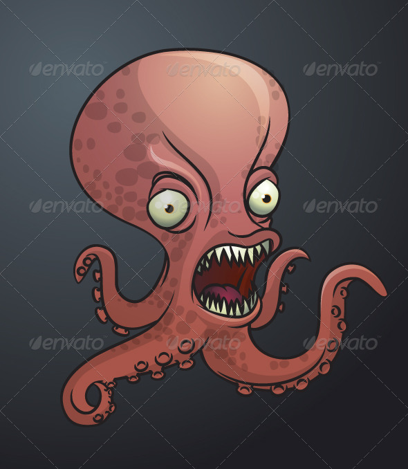 Octopus monster - Animals Characters