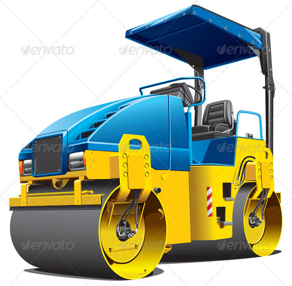 Double Road Roller - Man-made objects Objects