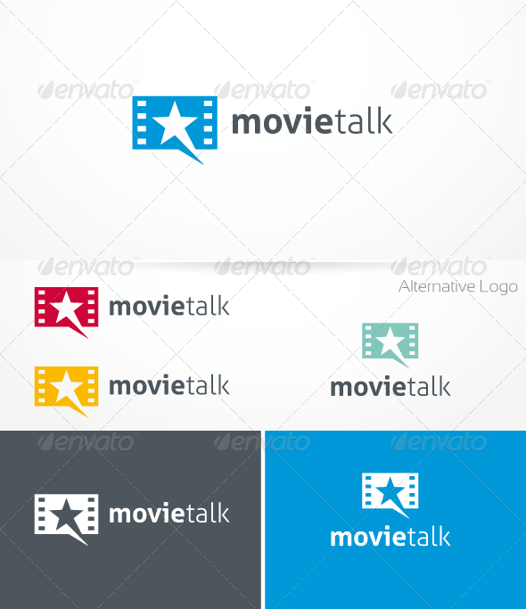 GraphicRiver Movie Talk Logo Template 1379118