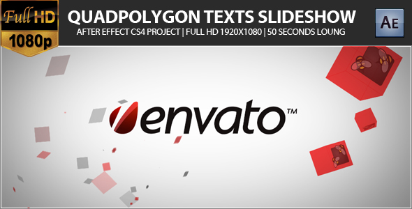 After Effects Project - VideoHive Quadpolygon Texts or Photo Slideshow 1646 ...
