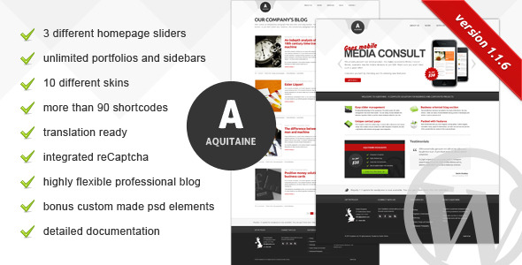 Aquitaine Business Theme -
