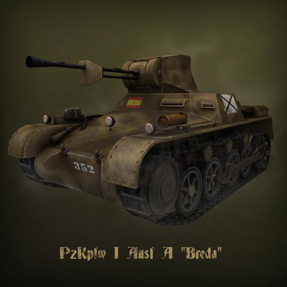 3DOcean PzKpfw I Ausf A Breda light tank 1380001