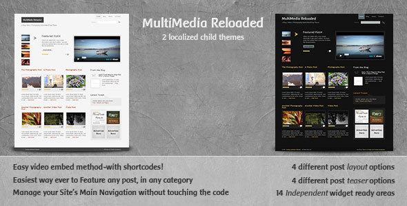 MultiMedia Reloaded - Blog, Video, Photography  - ThemeForest