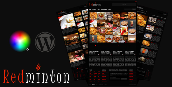 Redminton - Restaurant WordPress Theme - preview