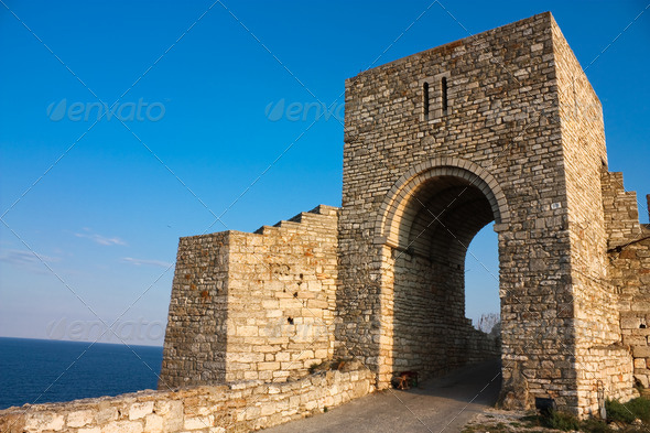 The medieval fortress of Kaliakra. Bulgaria - Stock Photo - Images