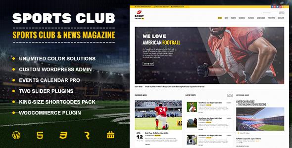 Sports Club Football Soccer Sport News Theme By