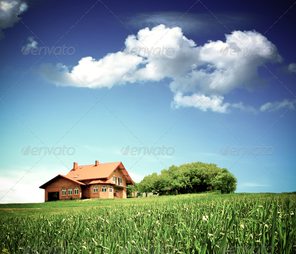 Clean environment and new new family home - Stock Photo - Images