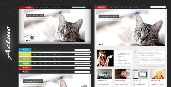 Actme - Clean and Fresh Website Template