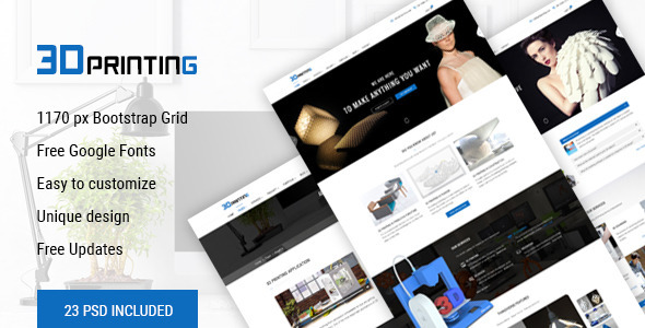 3D Printing - 3D Print & Scan Technology Template by happytheme ...
