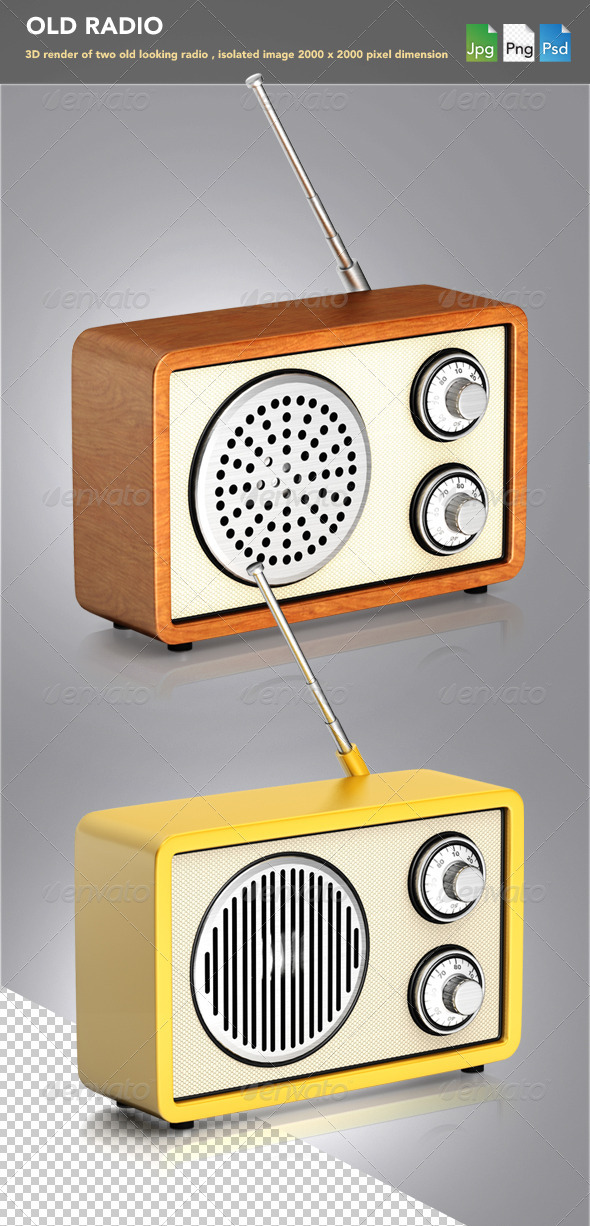 Old Radio - Objects 3D Renders