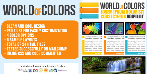 World of Colors Email Template - Newsletter