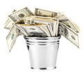 bucket of US banknotes  - PhotoDune Item for Sale
