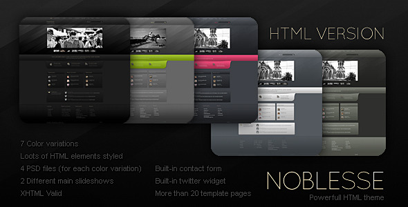 Noblesse - HTML version - Creative Site Templates