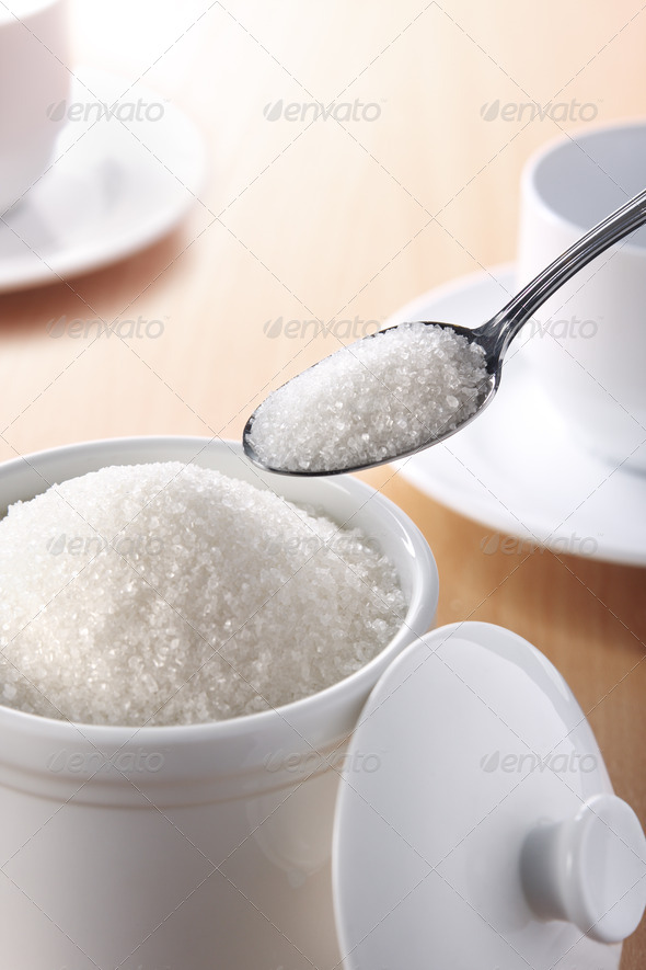 spoon of sugar - Stock Photo - Images