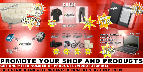 After Effects Project - VideoHive Shopping Pack 1391500